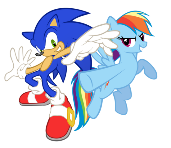 File:FANMADE Rainbow Dash and Sonic cross by Geogo999.png