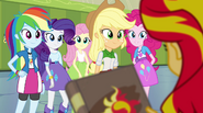 Sunset tells her friends about the book EG2