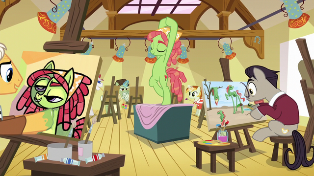 File:Tree Hugger posing for the artists S6E4.png