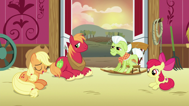 """File:Applejack """"not a story I'm proud of"""" S6E23.png"""