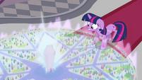 Crystal transforms into Crystal Empire map S3E01