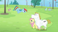 Rainbow 'let me see you flap it!' S4E10