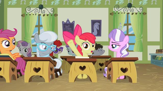 File:Apple Bloom raising her hoof S02E12.png