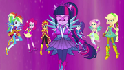 Equestria Girls in their Crystal Guardian forms EG4