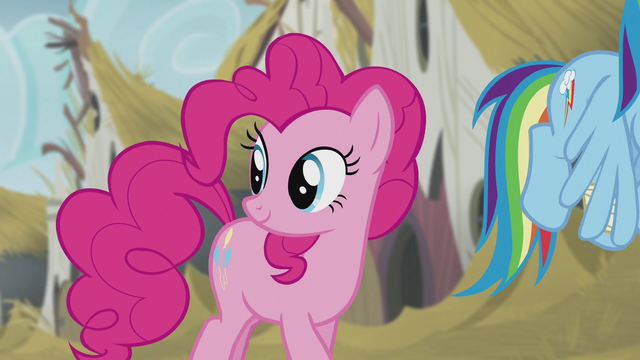File:Pinkie looking back to the statue S5E8.png
