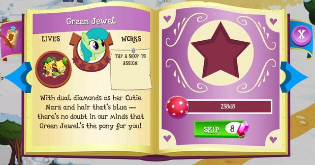 File:Green Jewel album page MLP mobile game.jpg