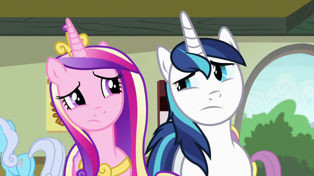 File:Cadance and Shining Armor looking confused S7E3.png