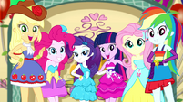 Mane Six posing for their Fall Formal photo SS2