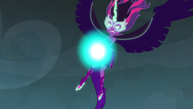 File:Midnight Sparkle with a magical ball in front of her EG3.png