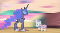 Princess Luna taking Sweetie back to the beginning S4E19