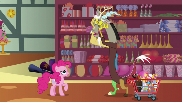 File:Discord worries over his tea party to Pinkie S7E12.png