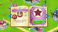 Flashy Pony album page MLP mobile game