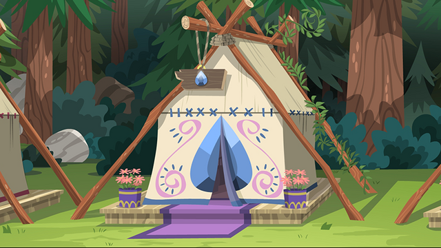 File:Legend of Everfree background asset - stylized tent.png