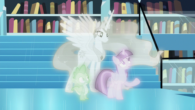 """File:Twilight """"the study of magic is a lifelong pursuit"""" S7E1.png"""
