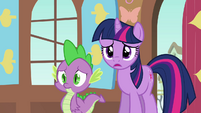Twilight and Spike worried S03E13