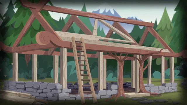 File:Wooden frame of Camp Everfree cabin EG4.png