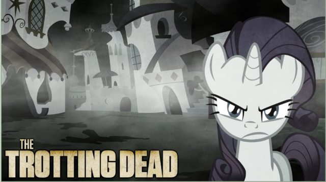 File:FANMADE Rarity The Trotting Dead.png