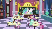 Flashback to Celestia's School for Gifted Unicorns S7E1