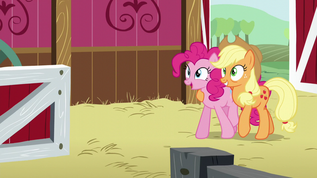 File:Pinkie and AJ walk backwards S5E11.png