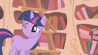 Twilight hears the front door slam S1E05
