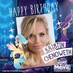 MLP The Movie 'Happy Birthday Kristin Chenoweth' promotional image
