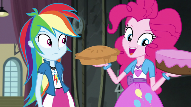 File:Pinkie Pie holding a pie and cake EG3.png