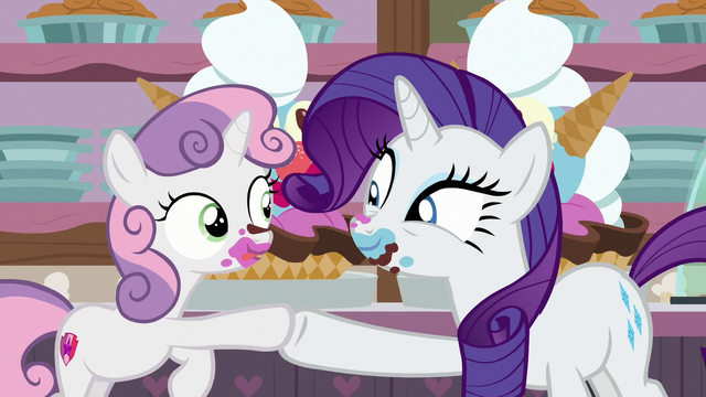 File:Rarity and Sweetie Belle hoof-bump S7E6.png
