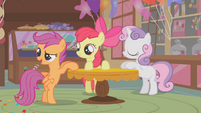 Scootaloo commenting on Diamond Tiara S1E12