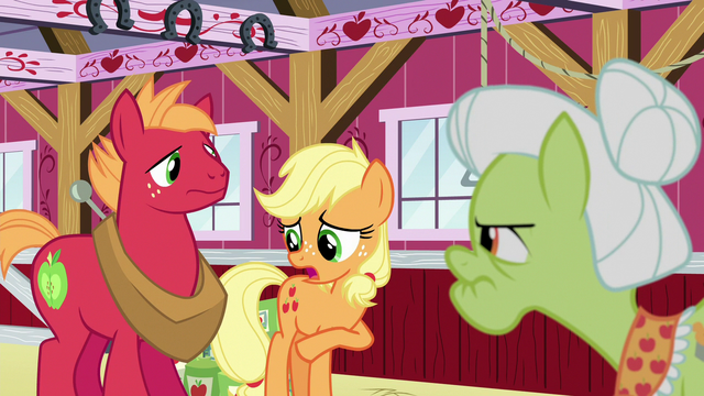 "File:Young Applejack ""I sort of promised"" S6E23.png"