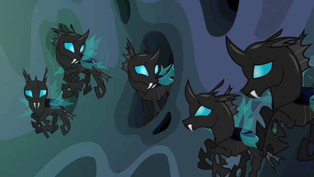 File:Changelings considering Starlight Glimmer's words S6E26.png