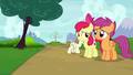 Apple Bloom and Scootaloo feel bad for Sweetie Belle S7E6.png