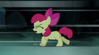 Apple Bloom runs away from her shadow S5E4