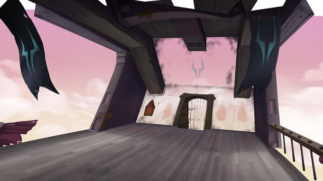 File:MLP The Movie background art - Storm King's airship bridge.jpg