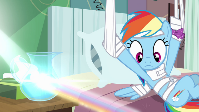 File:Rainbow Dash looking at rainbow S4E10.png