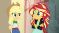 Applejack and Sunset look at each other EGS2.png