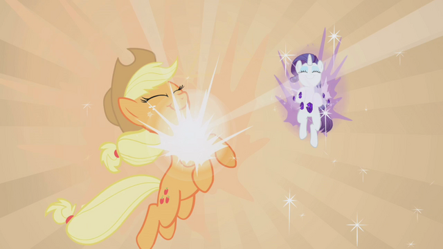 File:Applejack and Rarity receiving Elements of Harmony S1E2.png