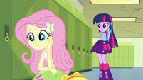 Fluttershy enamored with Spike EG