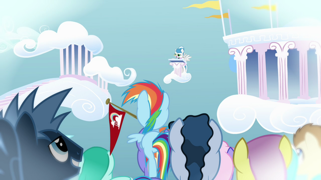 File:Rainbow Dash and the audience listening to the result S03E12.png