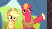 Applejack and Big Mac enters the tent S4E20