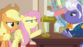 Applejack and Fluttershy confront Gladmane S6E20.png