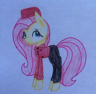FANMADE Fluttershy Military Uniform