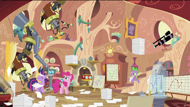 File:Pinkie Pie in Twilight's house S2E20.png