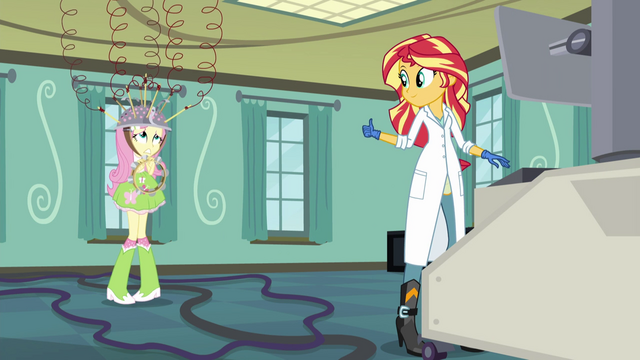 File:Sunset gives thumbs up to Fluttershy EG3.png