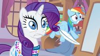 Rarity & Rainbow Dash uh oh S3E11