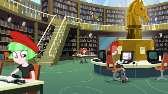 File:Sunset in the library background EG3.png