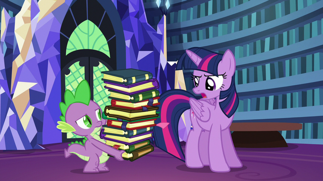 "File:Twilight correcting Spike ""tonight"" S6E21.png"