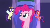 Angel Rarity appears before Pinkie Pie S6E9