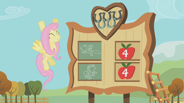 File:Fluttershy cheers for Rainbow Dash S01E13.png
