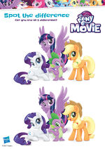 MLP The Movie activity sheet - Spot the difference