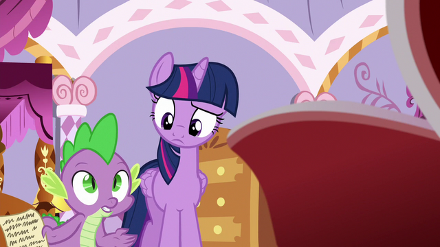 "File:Spike ""how in Equestria did you get back?"" S6E22.png"